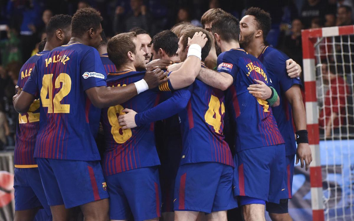 Barça Lassa - Orlen Wisla Plock: Remontada trepidante en el Palau (28-27)