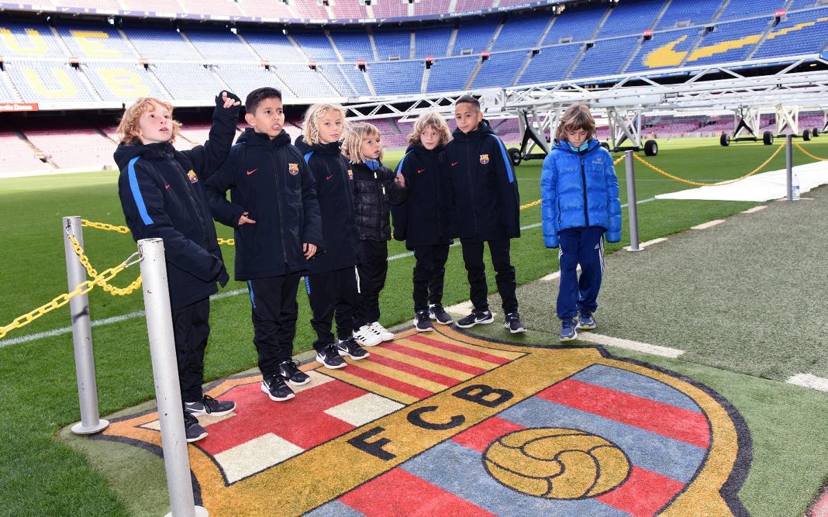 El Benjamins A i C visiten el Museu i coneixen l'Agrupació Barça Jugadors