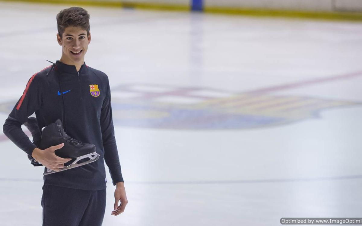 Aleix Gabara, un azulgrana en el Mundial Junior de Patinaje