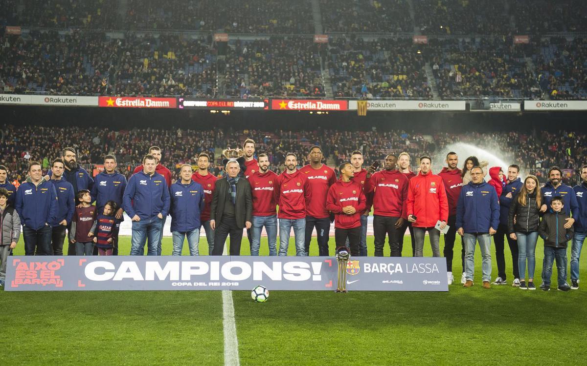 El Barça Lassa ofereix la Copa del Rei al Camp Nou