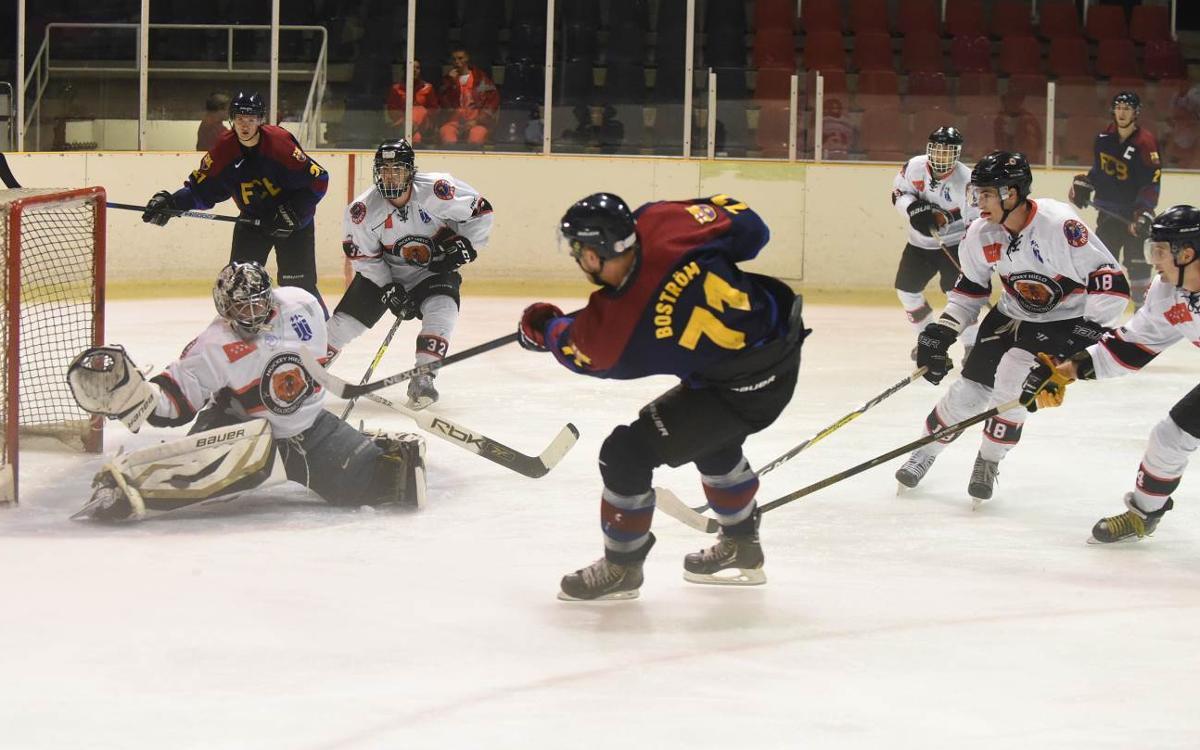 El Barça de hockey hielo suma el segundo triunfo de la temporada