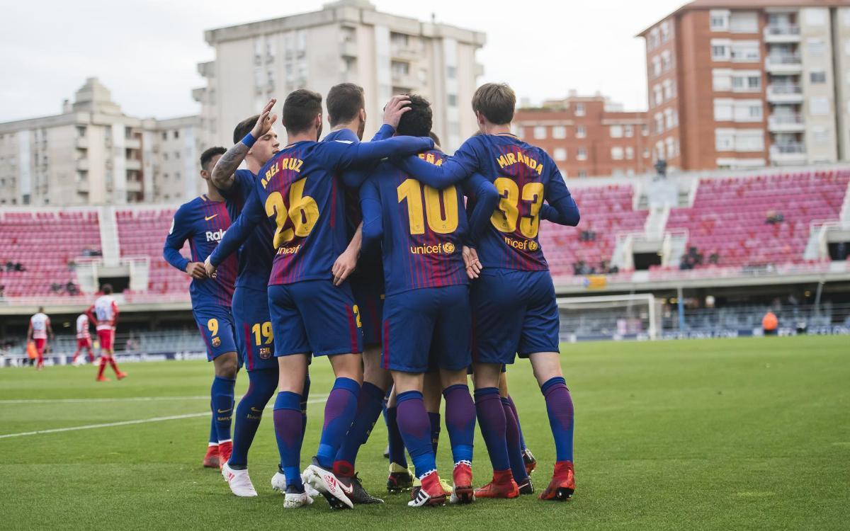 Barça B – Granada: Triomf important davant un bon rival de la part alta (3-0)