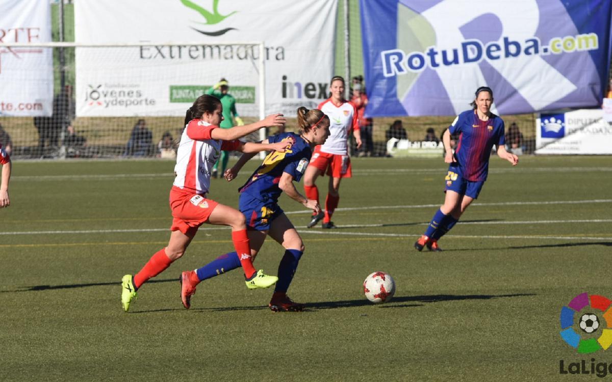Santa Teresa 0-3 FC Barcelona: Comfortable win in Badajoz