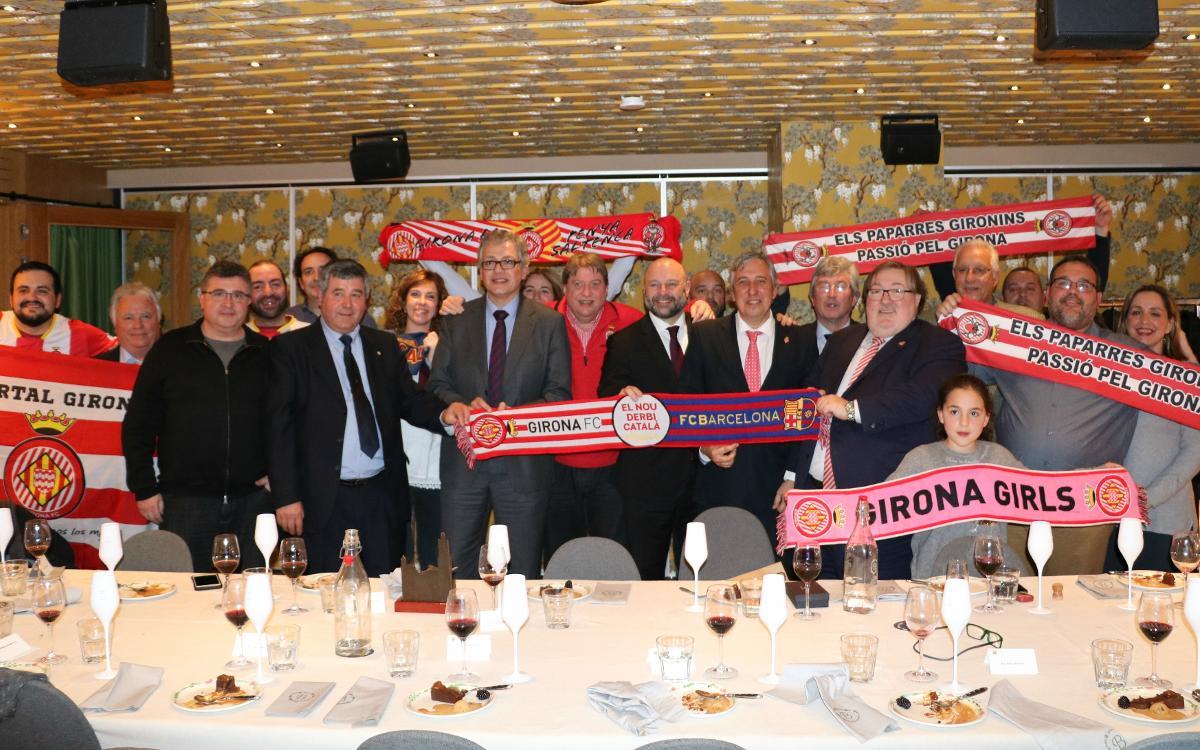 Encuentro institucional antes del Barça - Girona