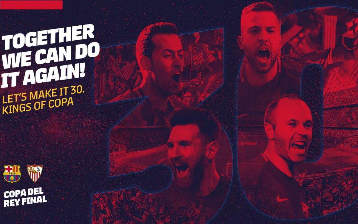La finale de la Coupe du Roi FC Barcelone - Séville se jouera au Wanda Metropolitano le 21 avril prochain