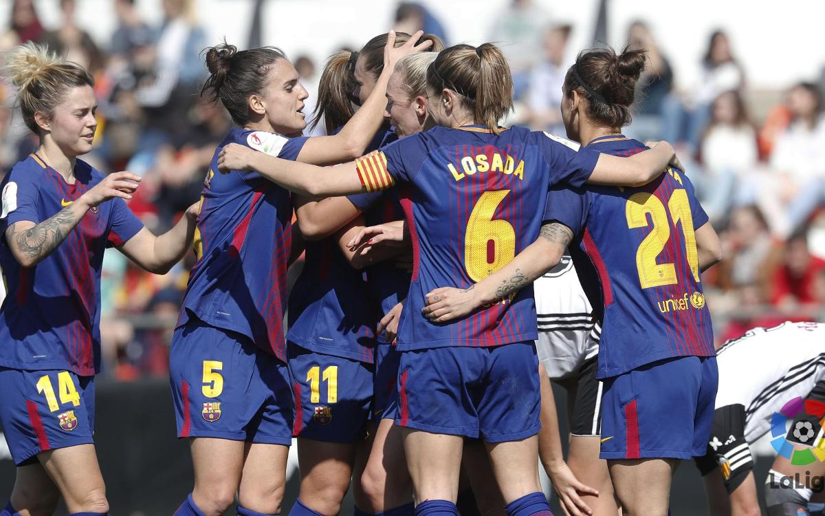Valencia CF Women – FC Barcelona Women: A very effective Barça seal the three points at Paterna (1-4)