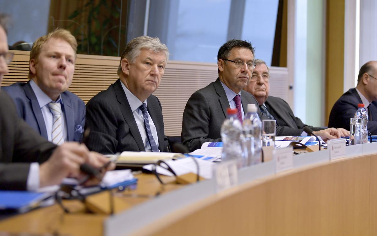 Josep Maria Bartomeu, present en el Comitè de Competicions de Clubs de la UEFA
