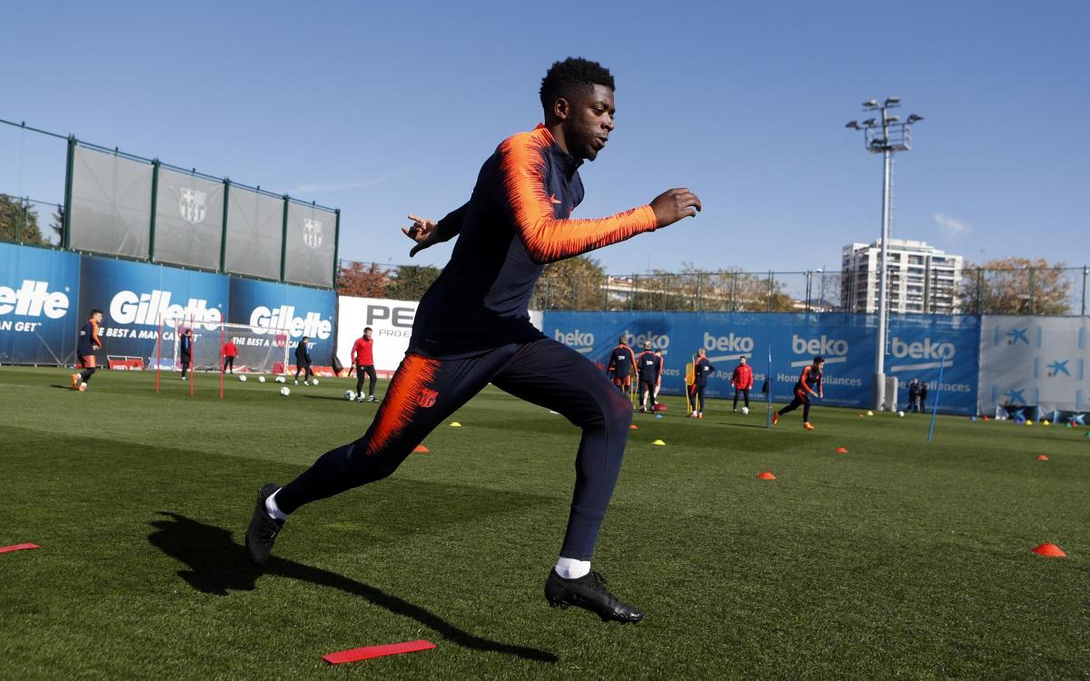 At Thursday's workout, Barça's attention trained squarely on Eibar