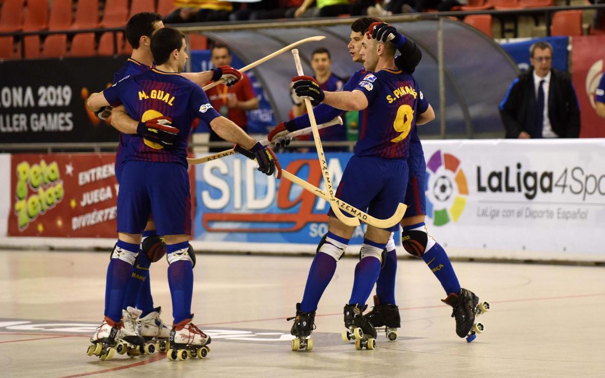 Barça Lassa - Citylift Girona CH: A semis con autoridad (5-1)
