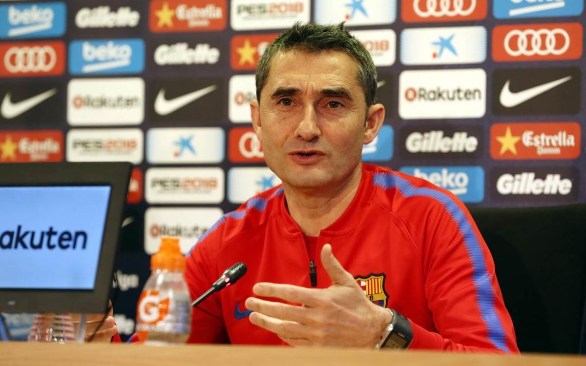 What Ernesto Valverde said at his pre-game press conference
