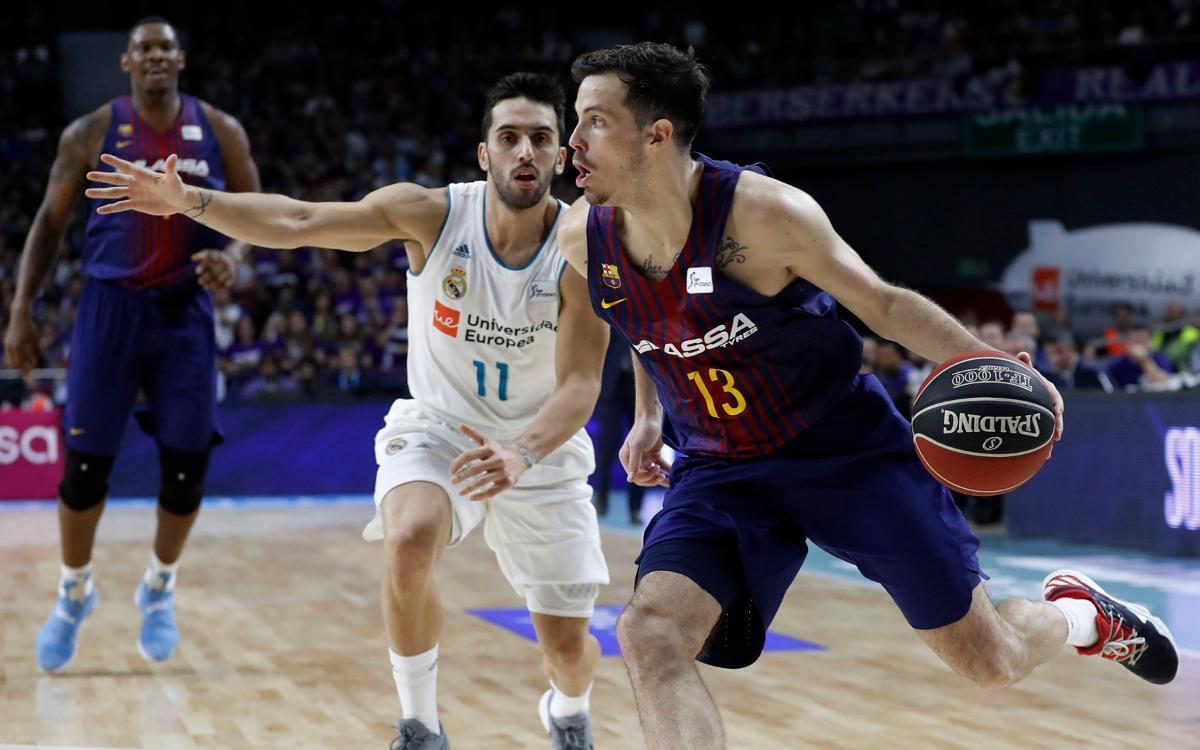 Real Madrid - FC Barcelona Lassa: El primer Clásico es azulgrana (80-84)
