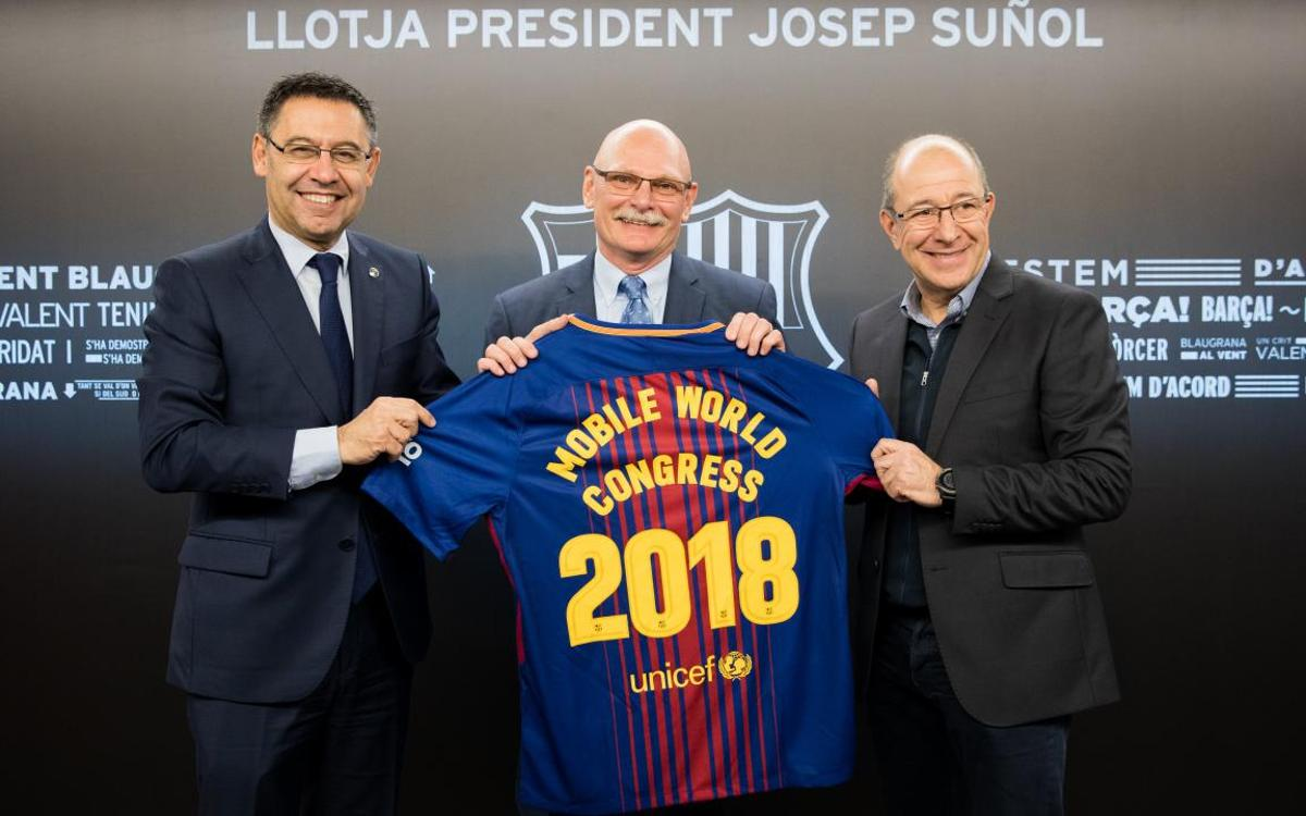FC Barcelona reaffirm their commitment to the Mobile World Congress for Barça v Girona