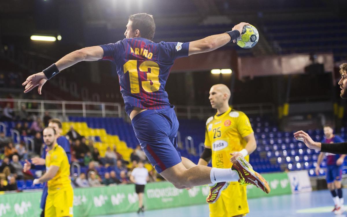 Barça Lassa handball tops Huesca, 33-20 at the Palau Blaugrana in Liga ASOBAL Week 17