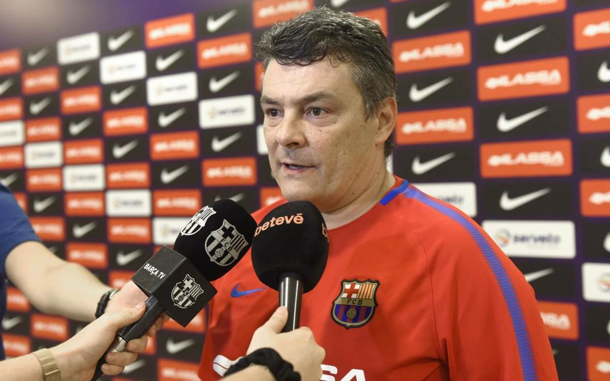 """Xavi Pascual: """"Jugarem el partit amb el màxim respecte"""""""