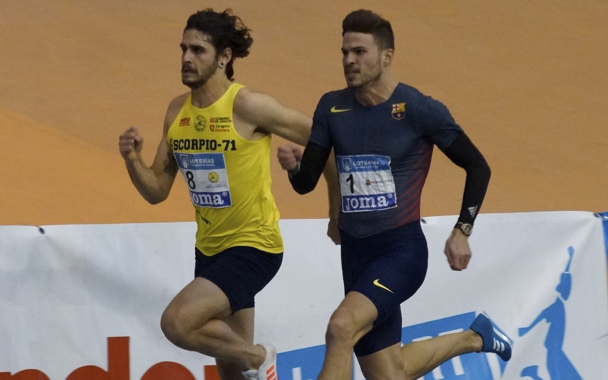 Óscar Husillos bat el rècord d'Espanya dels 200 metres (20,68)