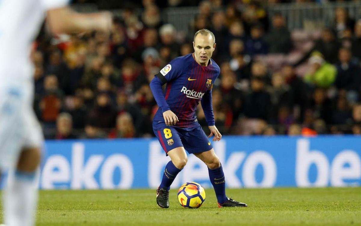 La varita mágica de Iniesta contra el Deportivo