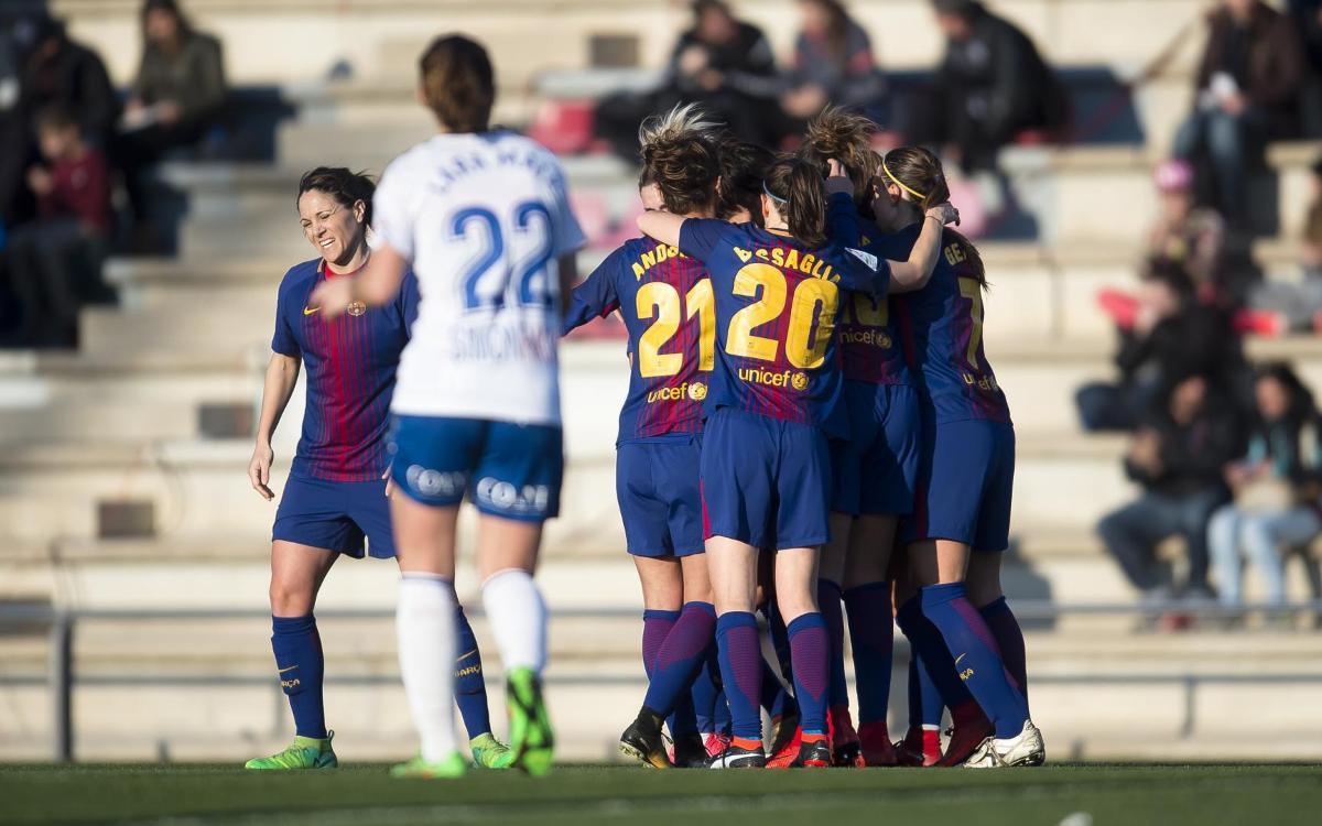 FC Barcelona Women v Zaragoza CFF: Excellent attacking display (2-0)