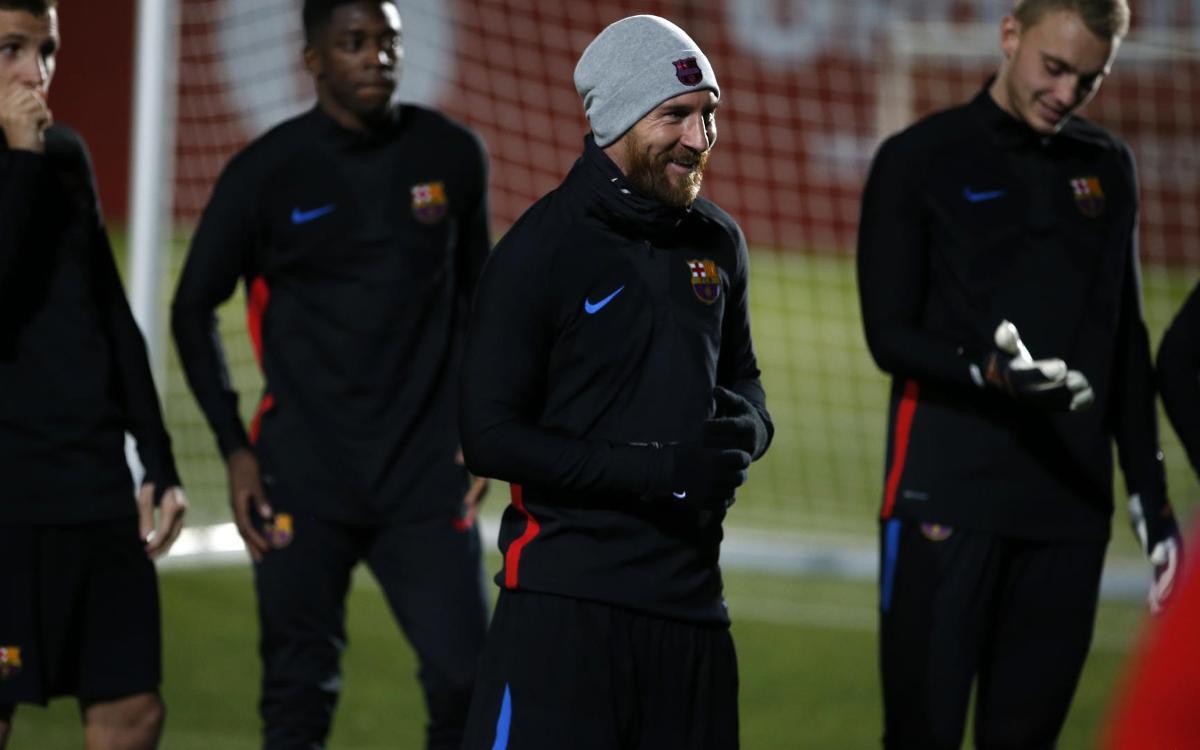 Messi, Suárez i Mascherano s'incorporen als entrenaments