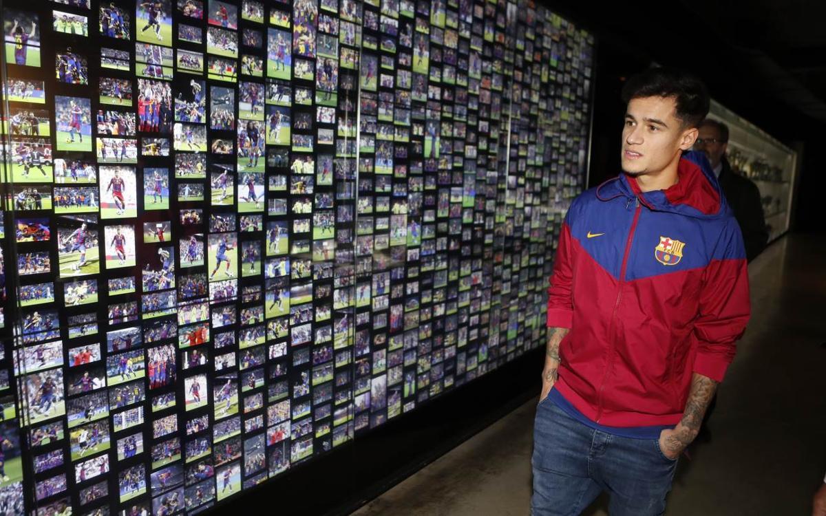 El primer dia de Coutinho a Barcelona, des de dins