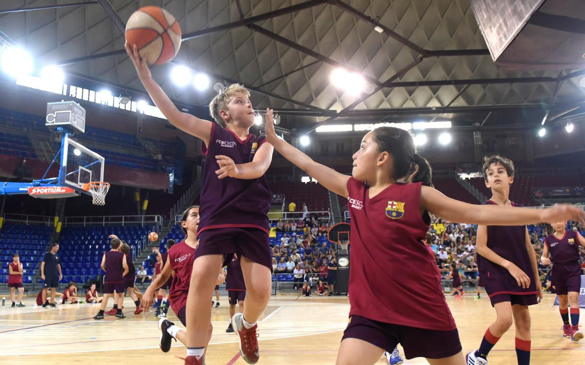 L'FCBEscola Basket celebra la jornada de cloenda de la seva primera temporada