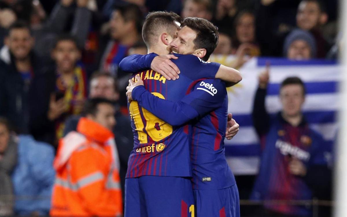 FC Barcelona - Celta: A cuartos por la vía Messi-Alba (5-0)