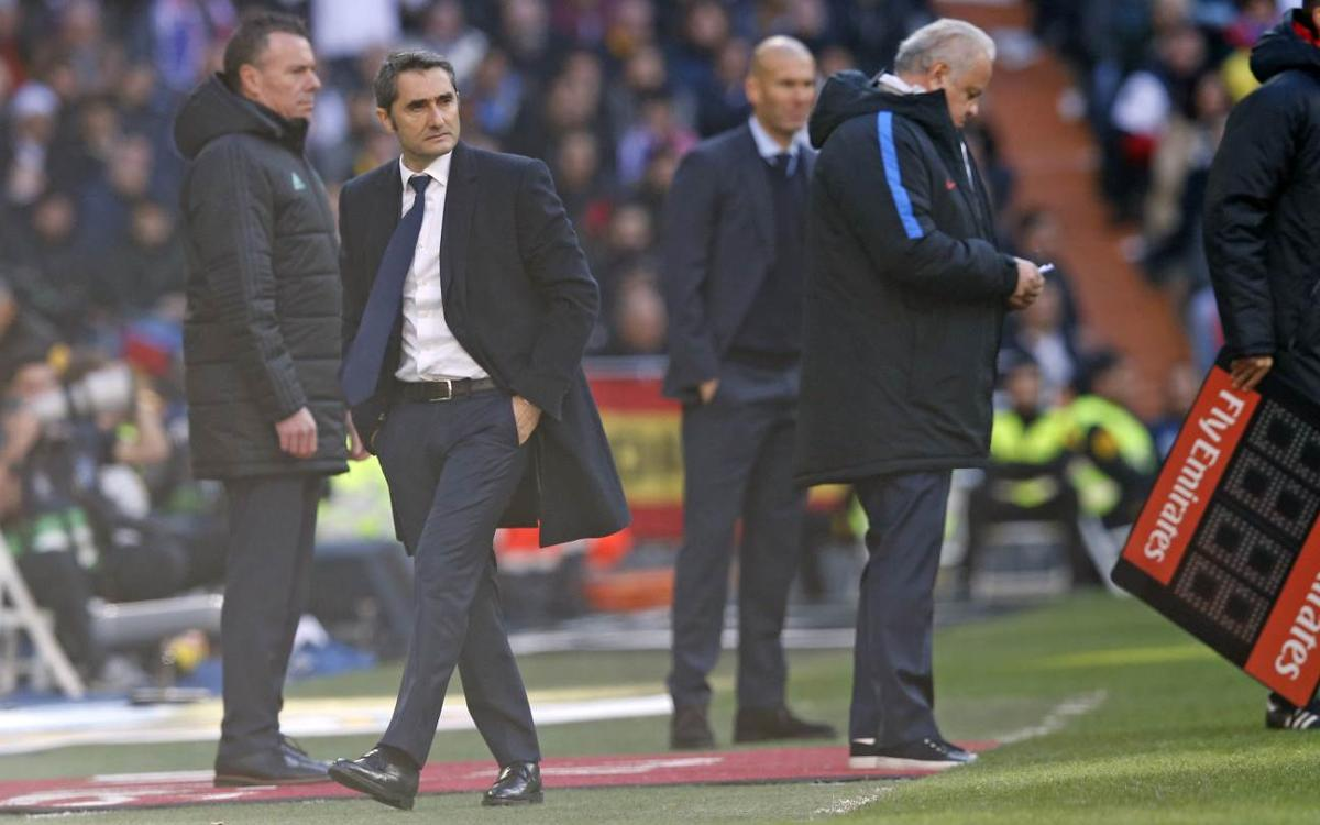 Ernesto Valverde's postgame reactions following El Clásico win