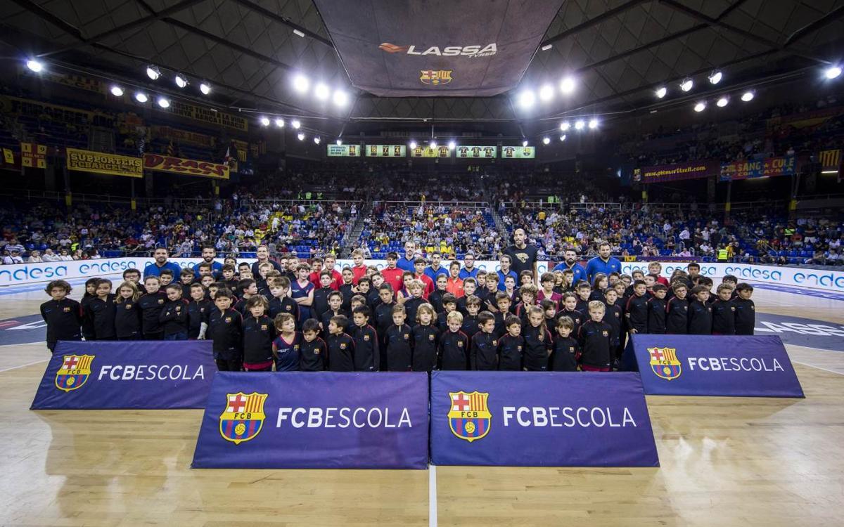 La FCBEscola Barcelona Basket se presenta en el Palau Blaugrana