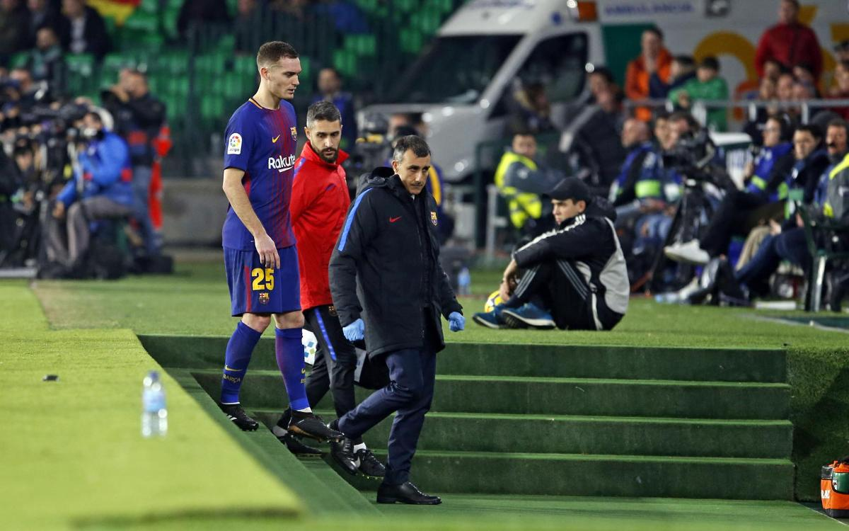 Thomas Vermaelen out for two weeks