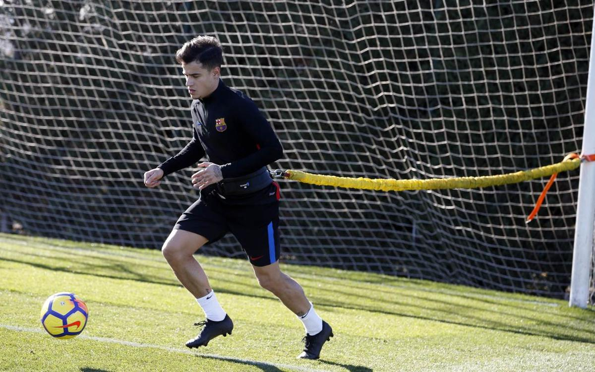 Philippe Coutinho continues his recovery from injury