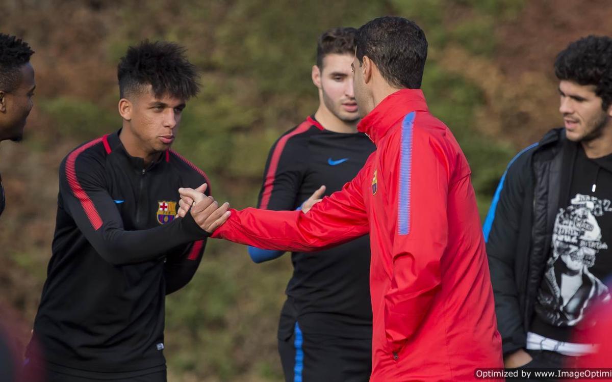 El Barça B ja ha tornat a la feina a la Ciutat Esportiva