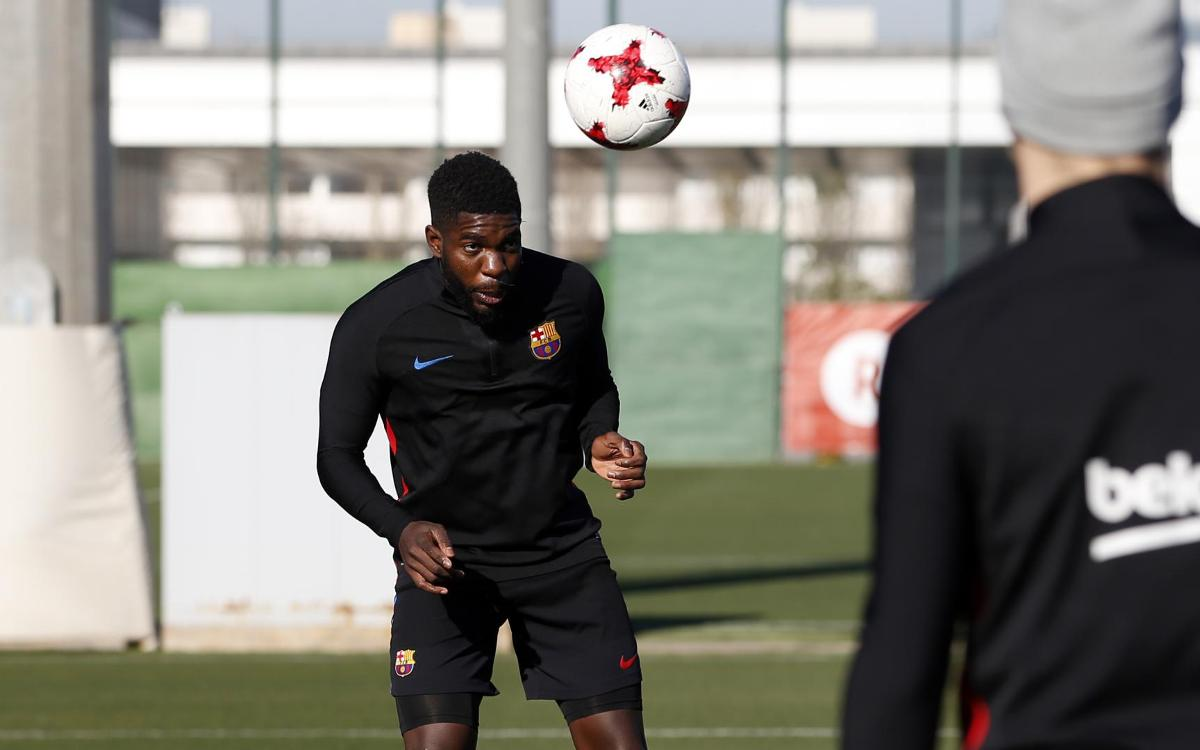 Samuel Umtiti feeling good during his recovery from injury