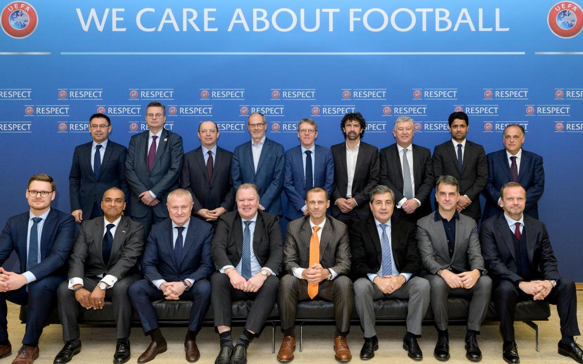 Josep Maria Bartomeu participa a la reunió del comitè estratègic de futbol professional de la UEFA