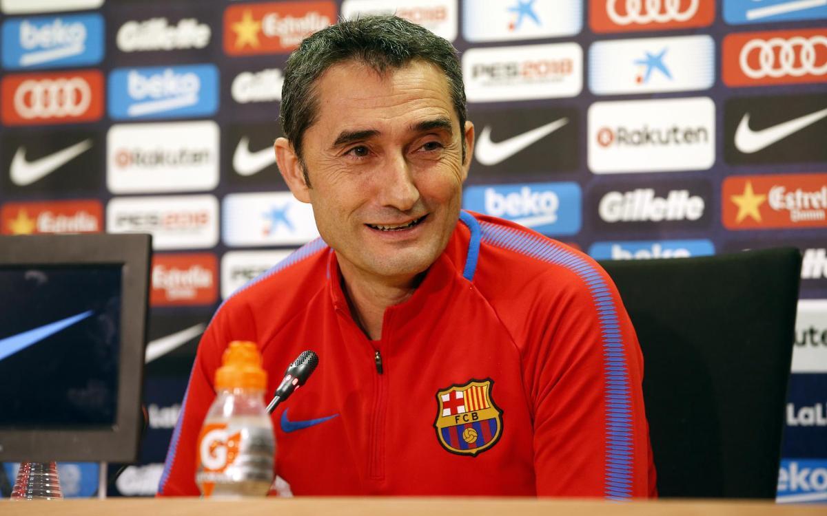 Ernesto Valverde relishing Anoeta challenge