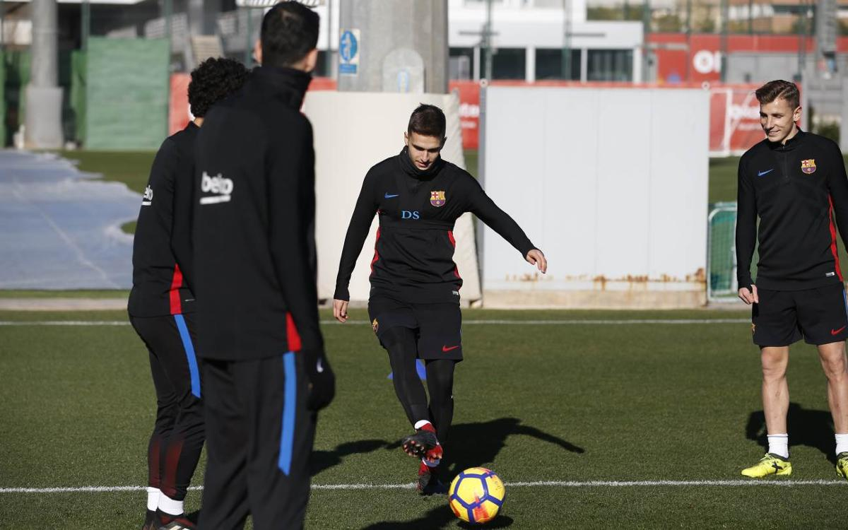 Recovery work in training for Betis game