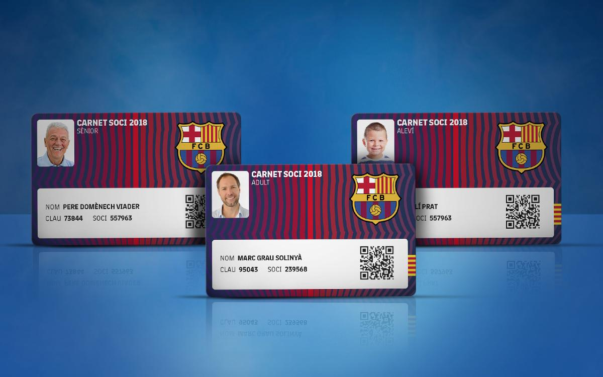 Renewal of membership and commitment cards for 2018