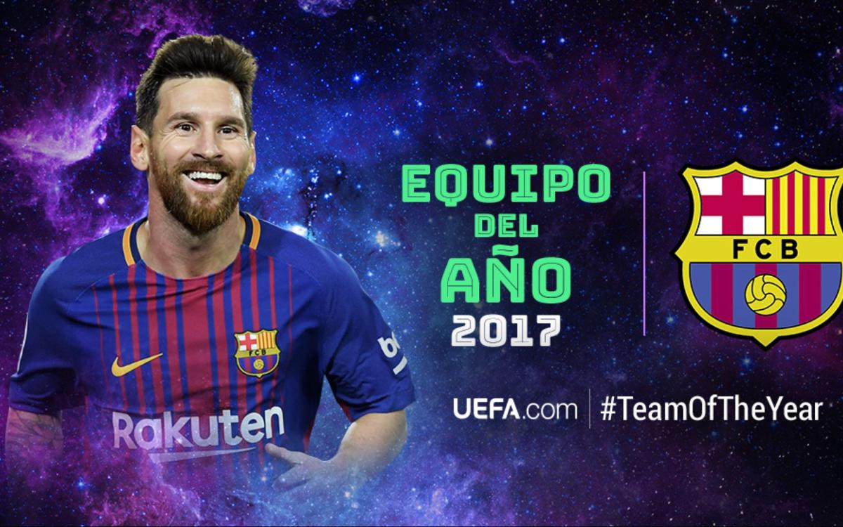 Leo Messi, en el 11 ideal del año de la UEFA
