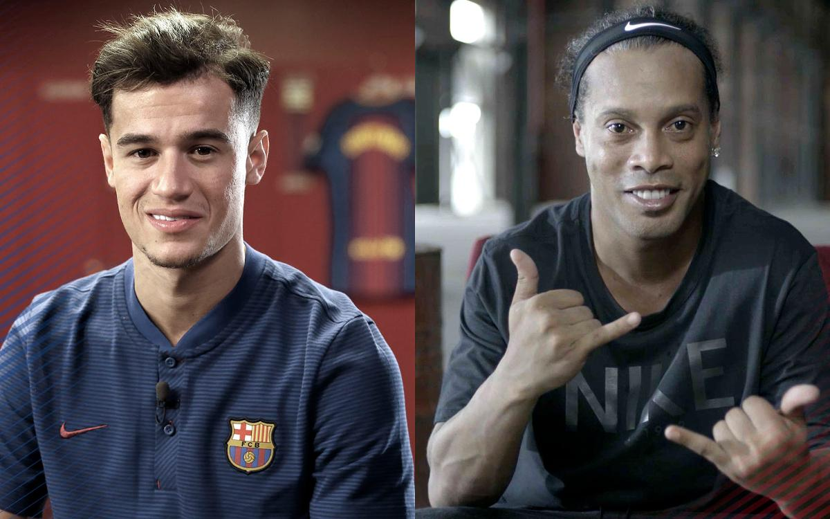 Ronaldinho and Philippe Coutinho share a special bond