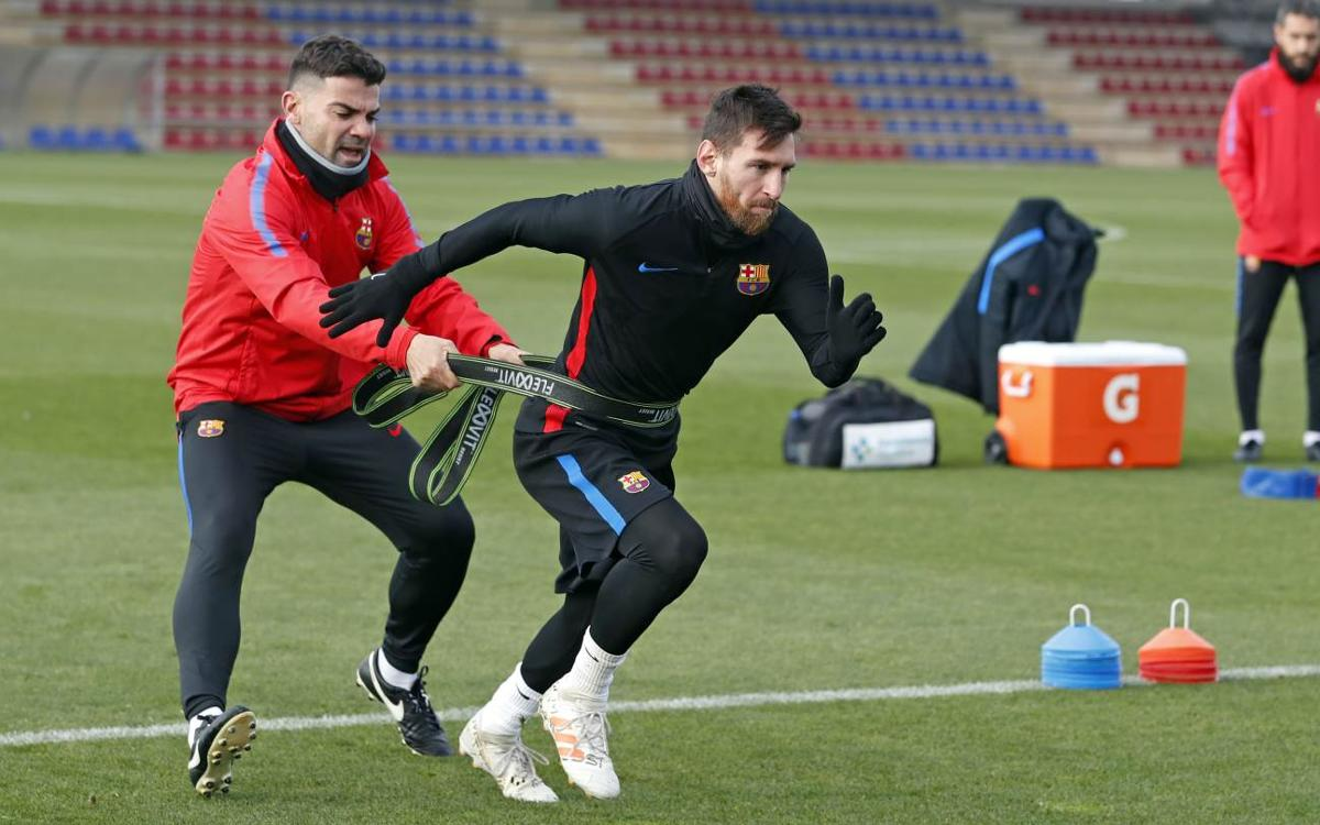 Training for non-Copa del Rey players
