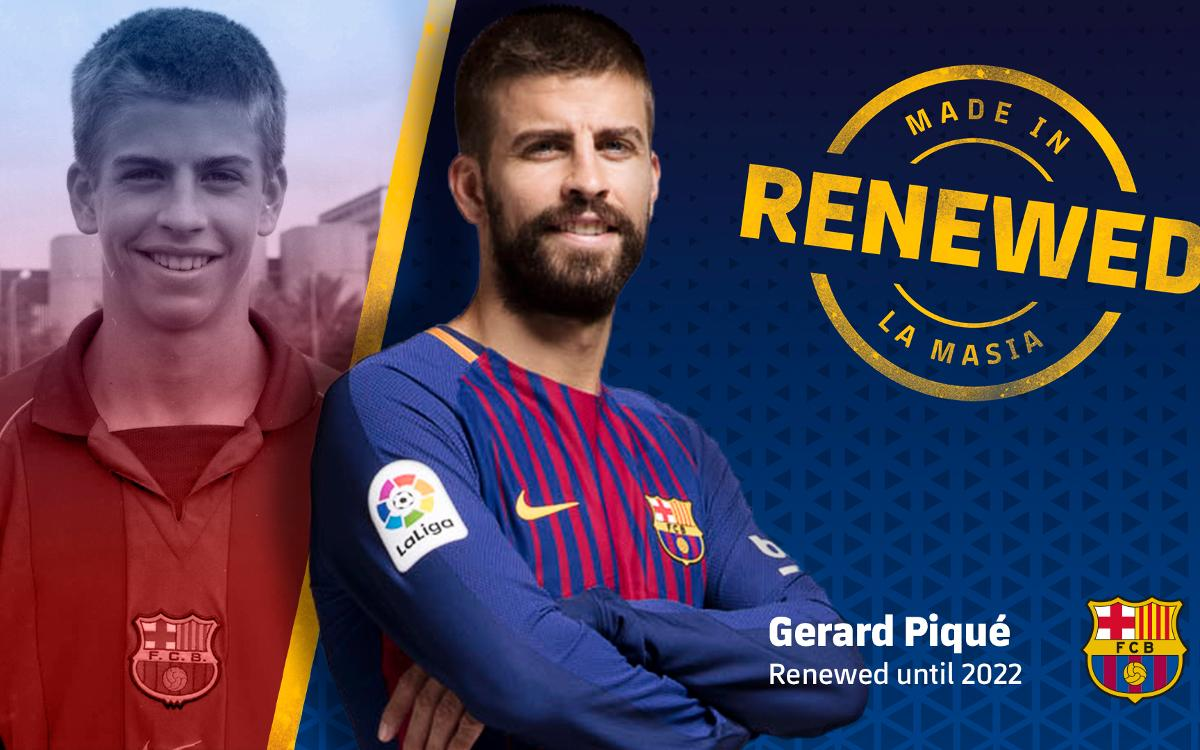 Piqué and FC Barcelona renew contract through to 2022