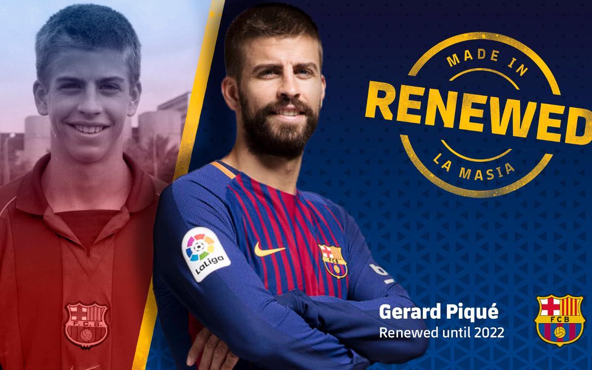 ジェラルド・ピケがクラブと2022年まで契約延長