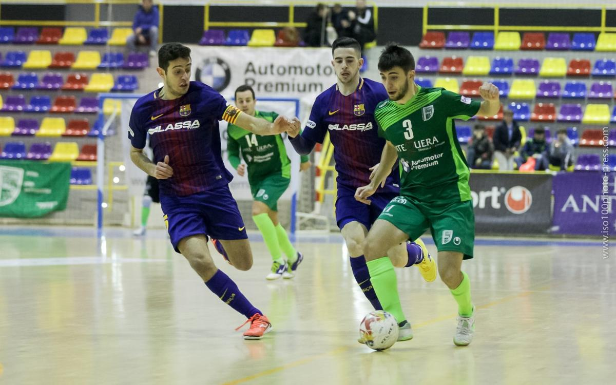 El Barça Lassa B de futsal cae en Antequera
