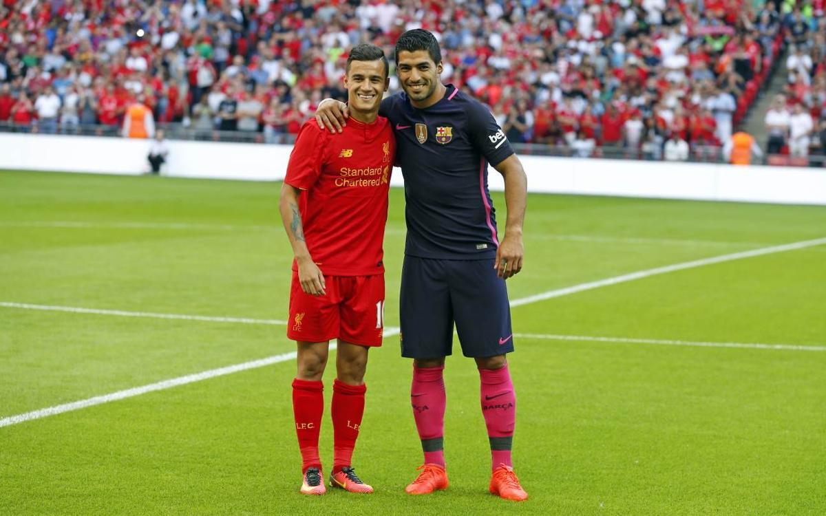 Luis Suárez and Coutinho reunited at FC Barcelona