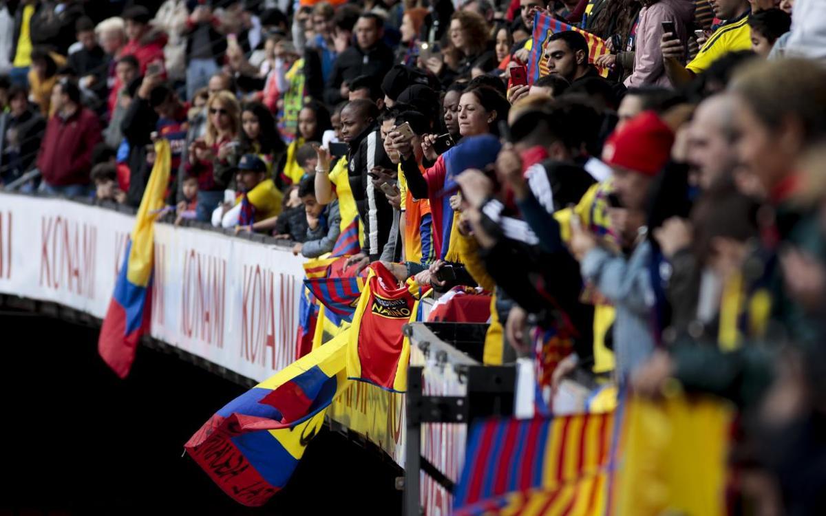Vidéo - 8552 supporteurs pour accueillir Yerry Mina au Camp Nou