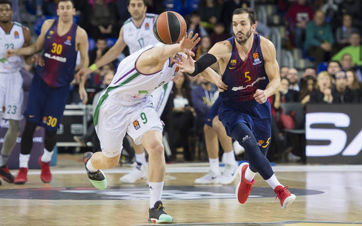Barça Lassa - Unicaja Màlaga: Nova prova en vuit dies frenètics