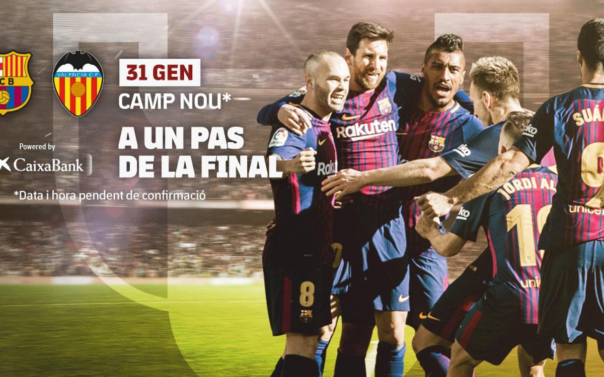 Partit d'anada de les semifinals de la Copa del Rei