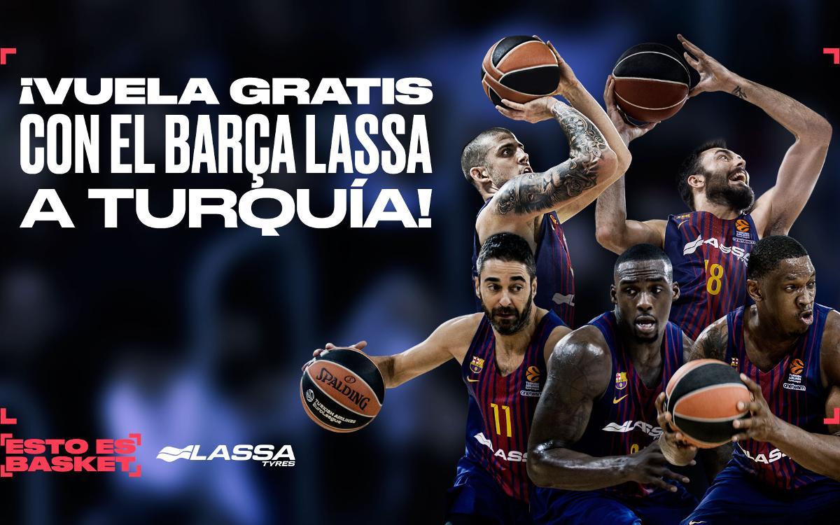 Participa en el sorteo de un viaje a Estambul para dos personas para asistir al Fenerbahçe-Barça Lassa