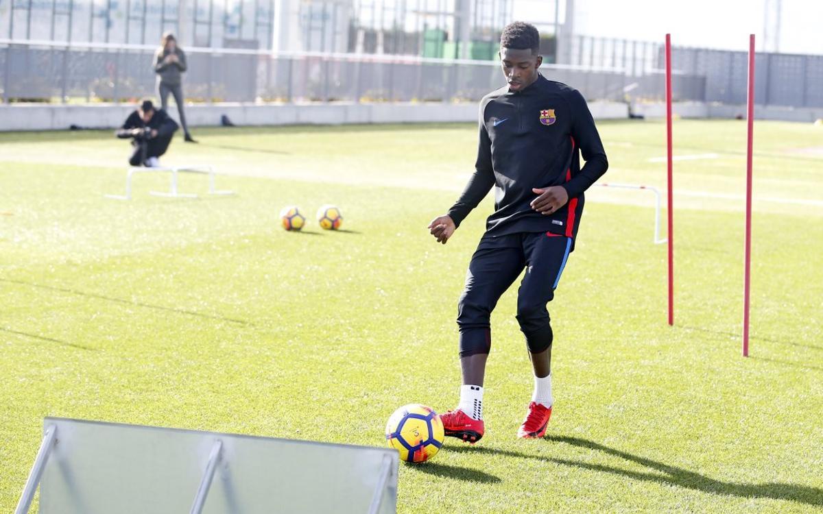 Dembélé's recovery continues at the Ciutat Esportiva
