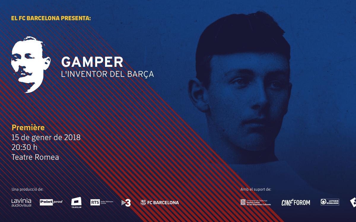 El FC Barcelona i Lavinia Audiovisual presenten el documental 'Gamper, l'inventor del Barça'