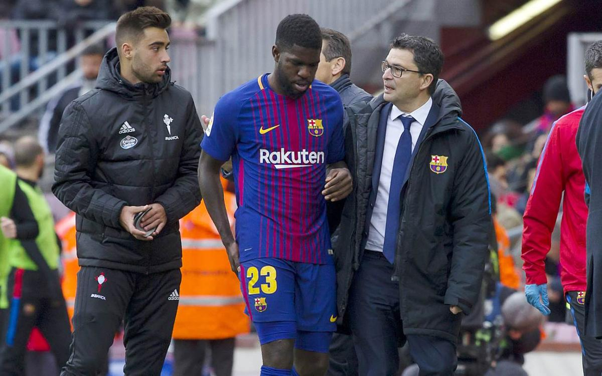 Samuel Umtiti, out for 8 weeks