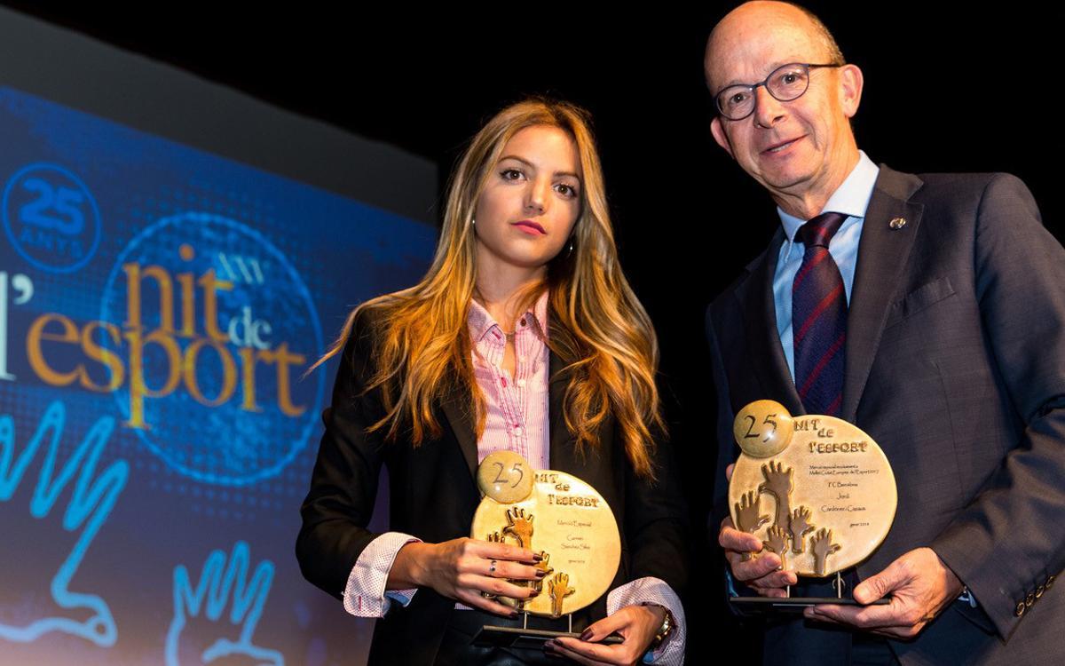 El Barça, premiat en la 25a nit de l'esport de Mollet